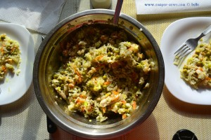 Heute Reissalat aus meiner Küche - Platja del Carabassí - Santa Pola - Spain