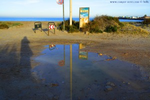 Die grosse Pfütze wird langsam kleiner - Playa de Torre Derribada - San Pedro del Pinatar – Spain