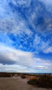 Aufkommende Bewölkung am Playa de Torre Derribada - San Pedro del Pinatar – Spain