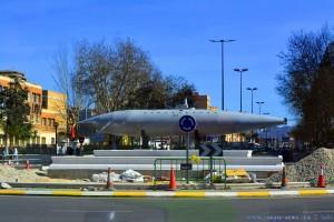 U-Boot-Nachbau im Kreisverkehr in Cartagena – Spain