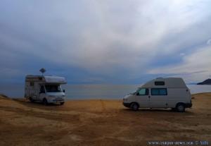 Dicke fette Wolken am Playa de las Palmeras – Spain