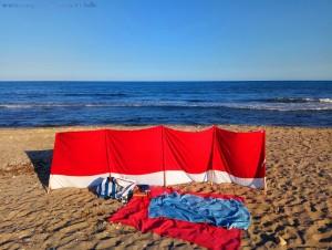 Mein Strandplatz am Agua Amarga Playa – Spain