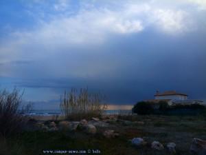 ...und rechts dicke fette Wolken am Platja L'Almadrava - Dénia – Spain