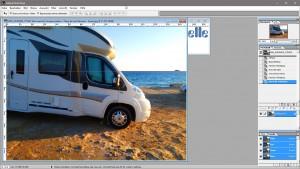 Wie manche Camper parken - Playa de las Palmeras – Spain – Adobe PhotoShop