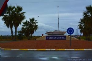 Kreisverkehr auf dem Weg nach Torrenostra – Spain
