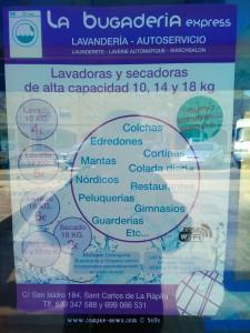 Lavandería - Autoservicio 'La Bugaderia Express' - Sant Carles de la Ràpita – Spain