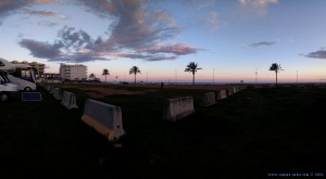 Parking at Cunit Playa - Passeig Marítim, 109, 43881 Cunit, Tarragona, Spanien - March 2018