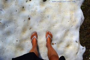 Mit Flip Flops im Schnee - Peveragno – Italy