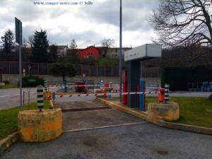Service-Station für Camper auf einer Autobahn-Raststätte in Italien