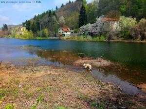 Nicol nimmt sogleich ein Fussbad und ist happy - Lago di Osiglia – Italy