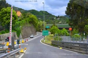 Nach Genova zurück oder Livorno - Autobahn in Italy