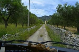 Baffo will ans Meer - irgendwo unterwegs auf schmalen Strassen in Italien