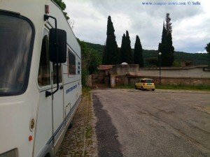 Parking at the Cemetery near Lago di Bracciano – Italy