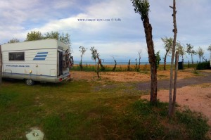 Parking in Area Sosta Camper Eden blu - Vieste - Italy - May 2018