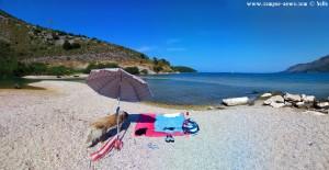 Mein Strandplatz mit einer laaaaaaaaangen Nicol - Platariá – Greece