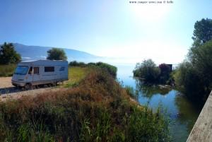 Parking at the Lake Límni Ioaninon - Ioánnina – Greece