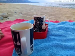 Kaffee-Pause am Portofino Beach - Greece