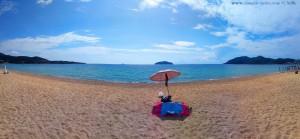 Mein Strandplatz vor den Inseln Xifios und Xeronisi vor Néa Iraklítsa – Greece