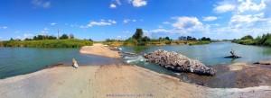 Die Brücke ist eingestürzt - Lissos River Greece