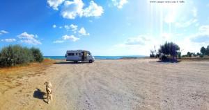 Parking at Imeros Beach - EO - Imerou-Paralias Imeros - Maronia Sapes 694 00 Greece - June 2018