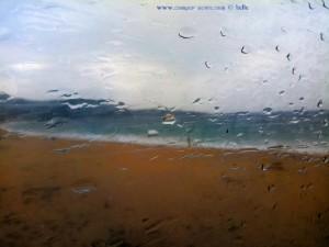 Schon seit Stunden Gewitter und Regen - Néa Iraklítsa – Greece