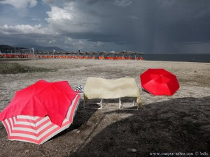 Strand-Equipment wieder trocknen - Portofino Beach – Greece - (Selected Colors)