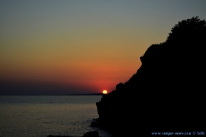 Sunset am Castel Likithos at Toroni Beach – Greece