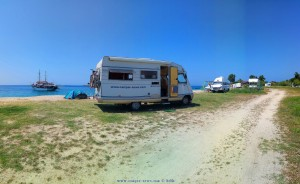 Parking at Tristínika Beach - Unnamed Road - Tristínika - Sithonia 630 72 - Greece - July 2018