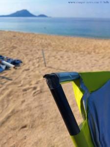 Das Zelt ist hinüber - Tristínika Beach – Greece