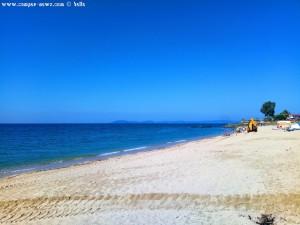 Der Strand wird gereinigt - Tristínika Beach – Greece