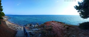 Kleine Badebucht nahe Metamorfosi Greece
