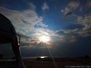 Die Sonne die für den Regenbogen verantwortlich ist - Ikismos Lefkes – Greece