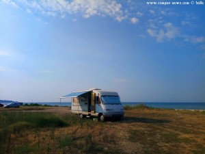 Parking in Ikismos Lefkes – Greece – August 2018