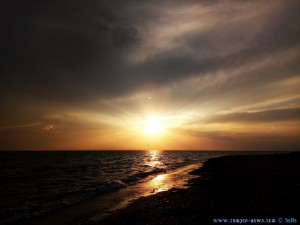 Sunset in Ikismos Lefkes – Greece