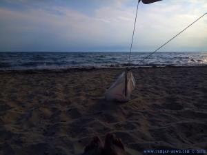 Meine Aussicht vom Strand-Platz - Ikismos Lefkes – Greece