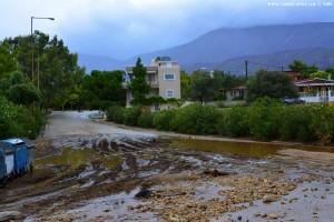 Nach dem Mittelmeer-Hurrikan Sorbas – Greece
