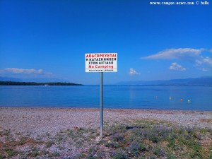No Camping at Kavos Beach – Greece