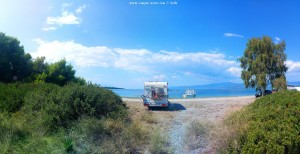 Parking at Kavos Beach - Kavos - Istiea Edipsos 343 00 - Greece - September 2018