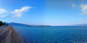 My View today - Kavos Beach with the Island Monolia – Greece