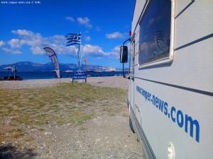 Kaffee-Pause in Pefki – Greece