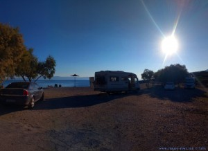 Parking at the Mouse Beach - EO Chalkidas Aliveriou - Akti Nireos - Kimi Aliveri - Greece - September 2018