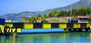 Versenkbare Brücke am Kanal von Korinth - Greece