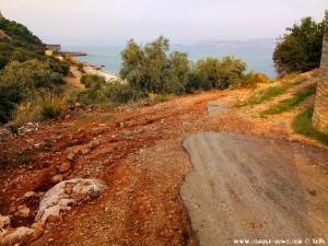 Hier ist wieder mal umdrehen angesagt - on the Road in Greece