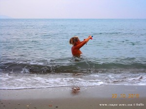 Beim Thermometer aufwickeln - Paliochano Beach – Greece