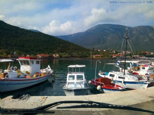 Turn am Hafen von Notia Kinouria – Greece