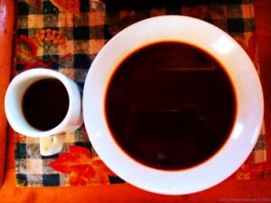 Kalter Kaffee für das Tiramisu und die Tiramisu-Eiscreme - Kamares Beach – Greece
