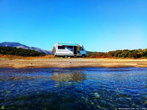 Parking at Kamares Beach - Unnamed Road - Kamares - Anatoliki Mani 232 00 - Greece - November 2018
