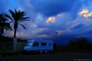 Dicke fette Wolken am Avramiou Beach - Greece