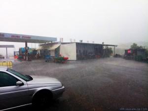 Schweres Gewitter mit Hagel bei Methoni – Greece