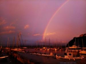 Rainbow at the Port of Pílos – Greece